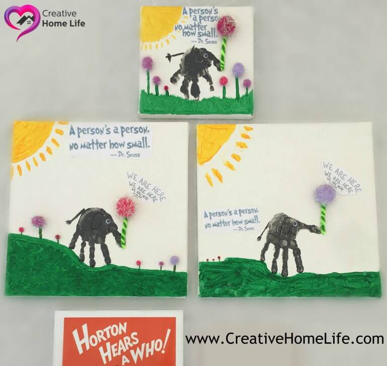 Horton Hears A Who Inspired Canvas Craft