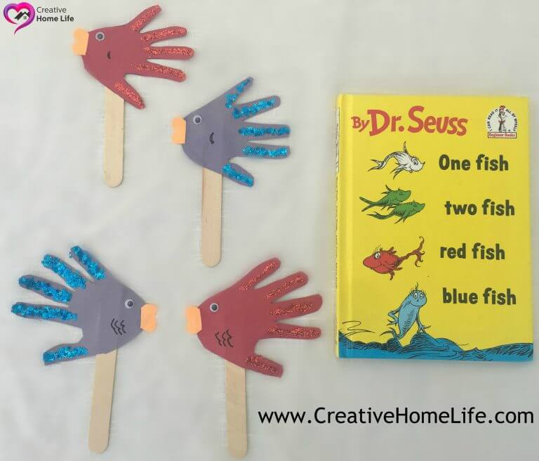 """- Red Fish Blue Fish """"Hand"""" Puppets -"""