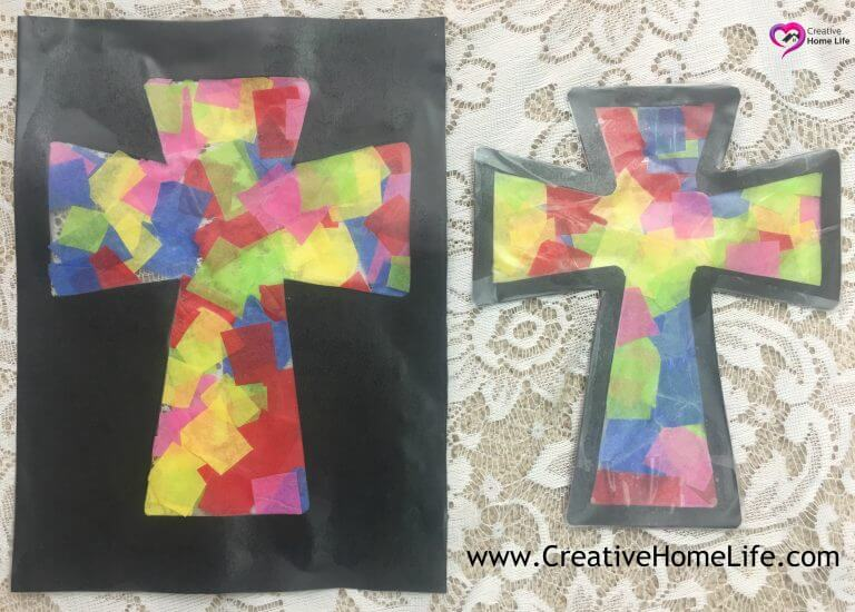 Cross sun catcher - Easter craft