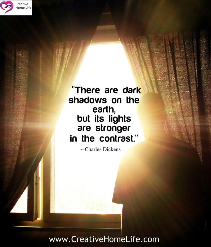 There are dark shadows