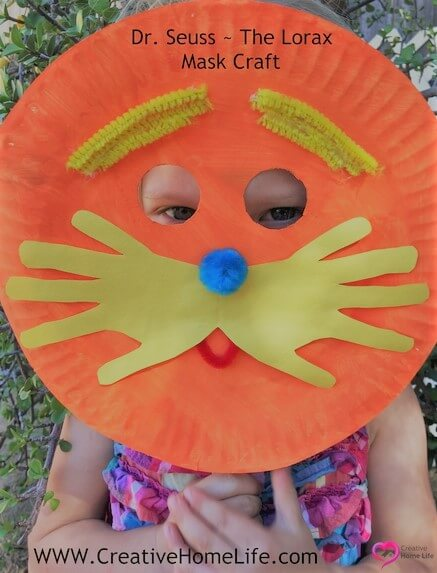 Wearing the Lorax mask