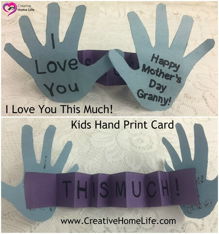 I Love you this much card craft