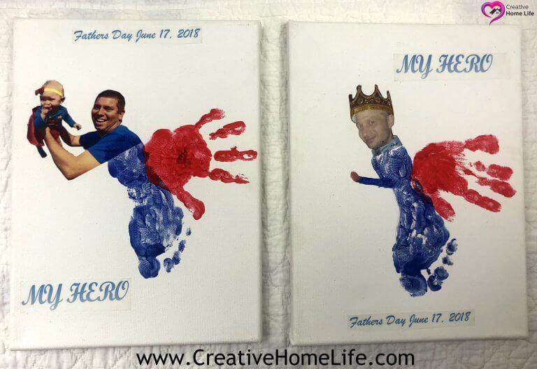 Hand & Footprint Superhero Craft