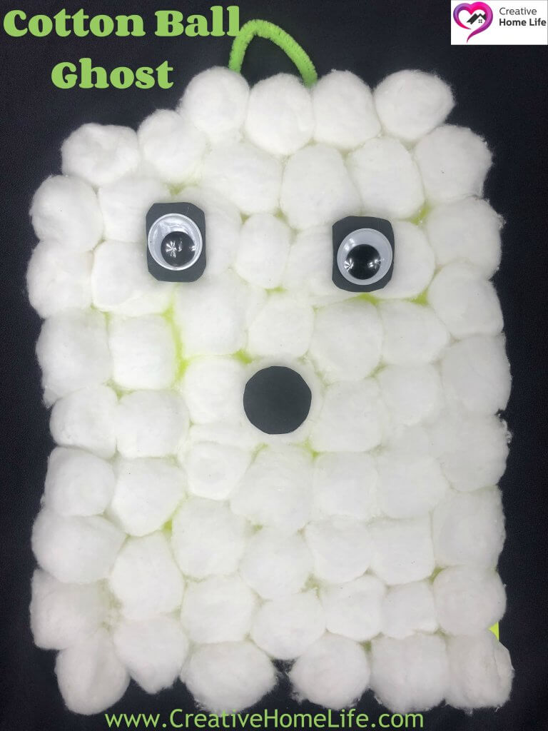 Cotton Ball Ghost 1