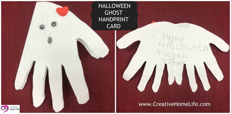 Ghost Handprint Card