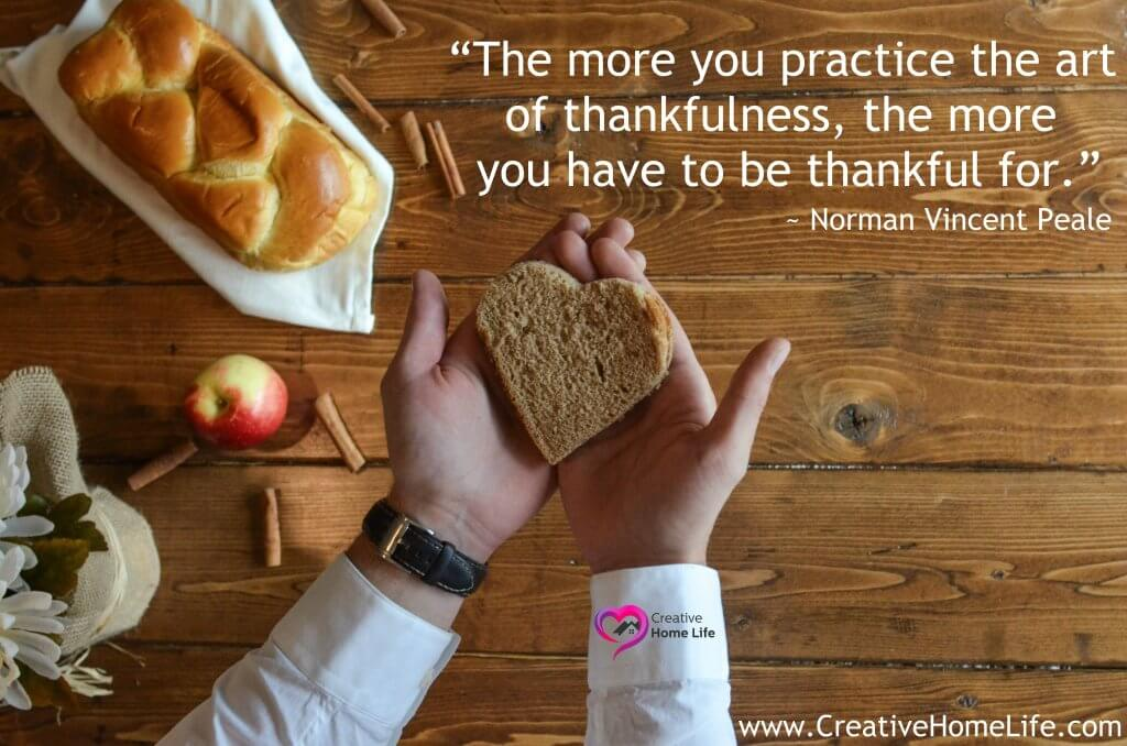 The more you practice the art of thankfullness