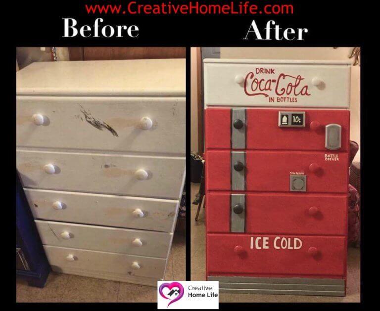 Dressor Coca Coca Machine Refinish - Dena