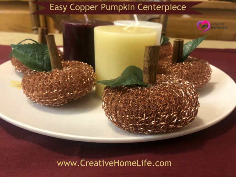 Easy Copper Pumkin Centerpiece