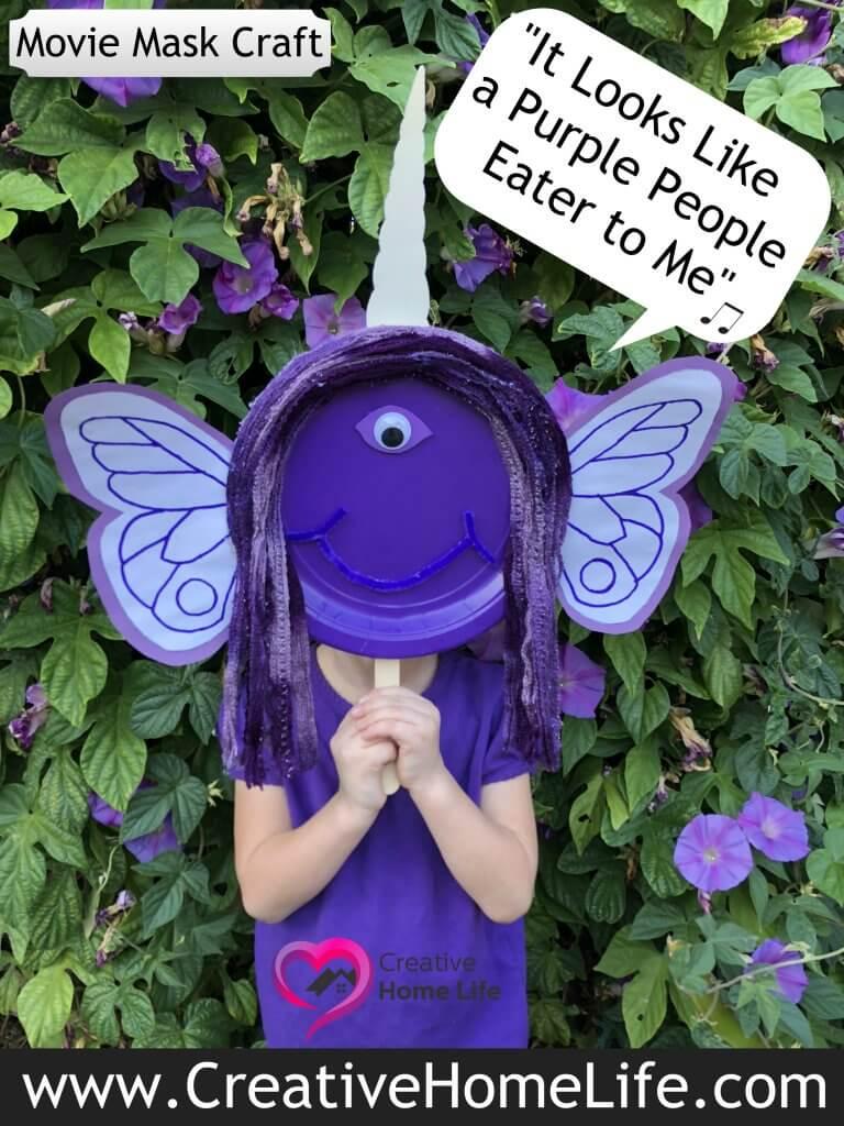 Purple people eater mask craft