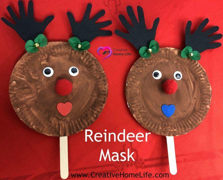 Reindeer Mask Christmas Craft Creative Home Life