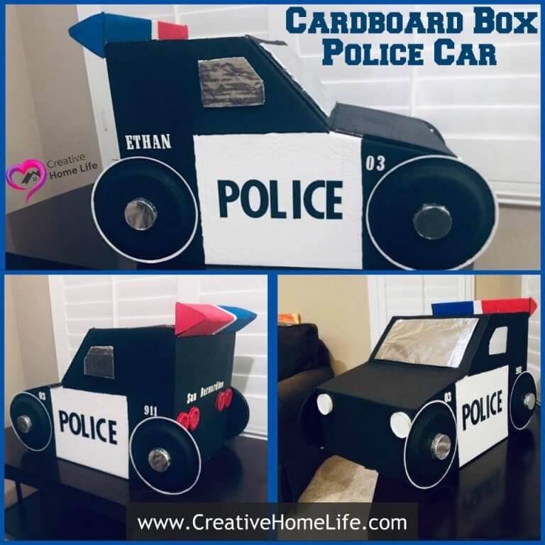 Cardboard Box Police car