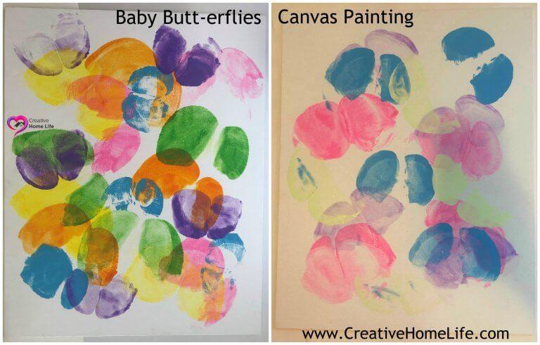 Baby Erflies Canvas Painting