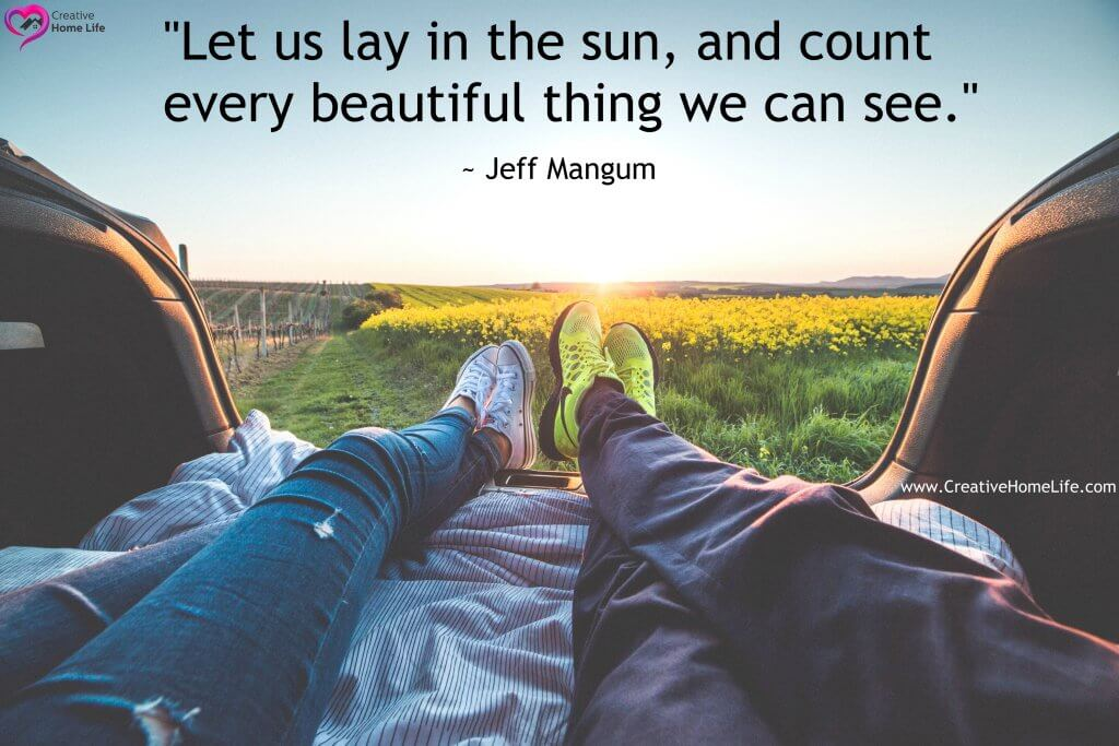 let us lay in the sun