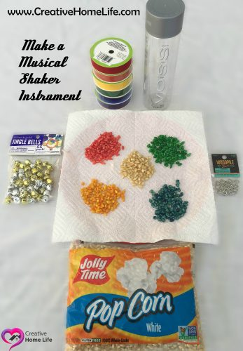 Supplies to create a musical shaker instrument
