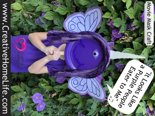 Purple people eater mask craft