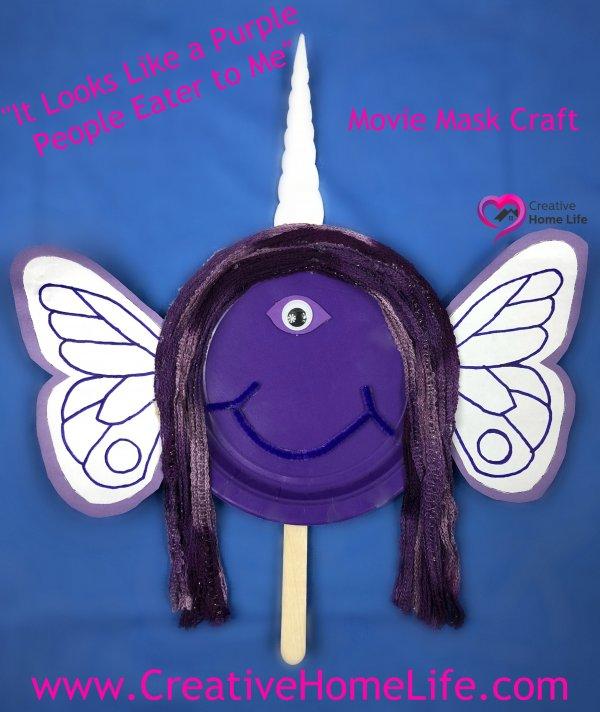 Purple people eater movie mask craft